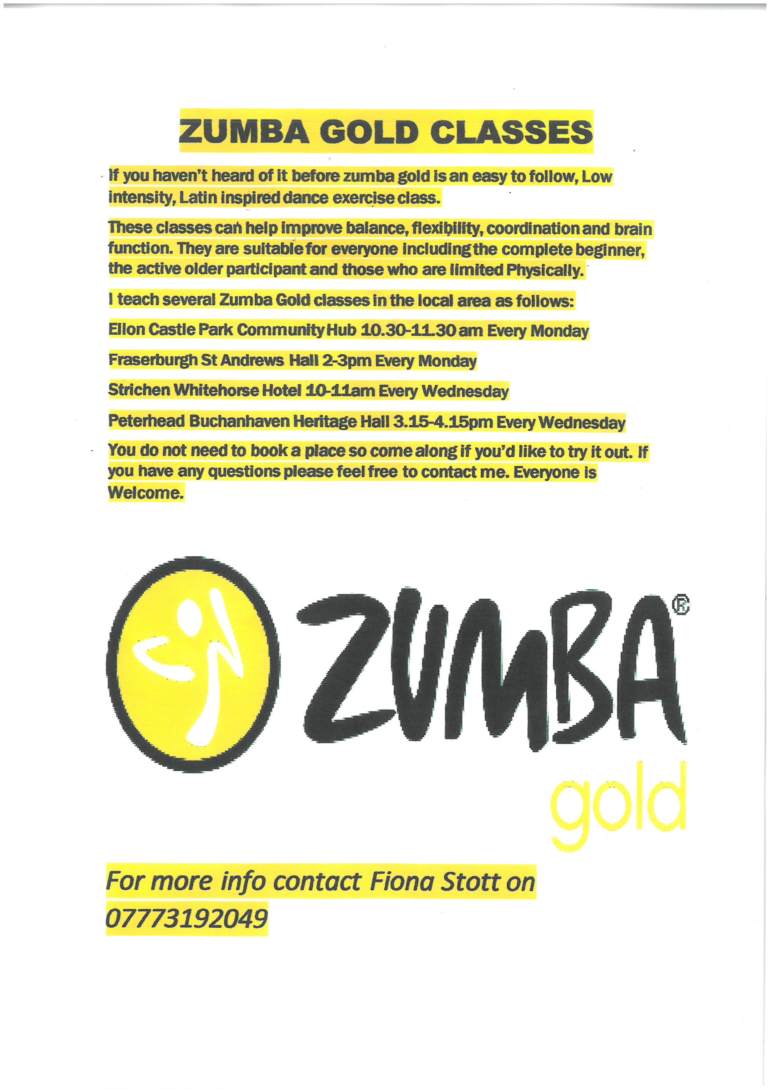You Can Book Me Ltd Zumba Gold Classes Visit Fraserbugh Visit Fraserbugh
