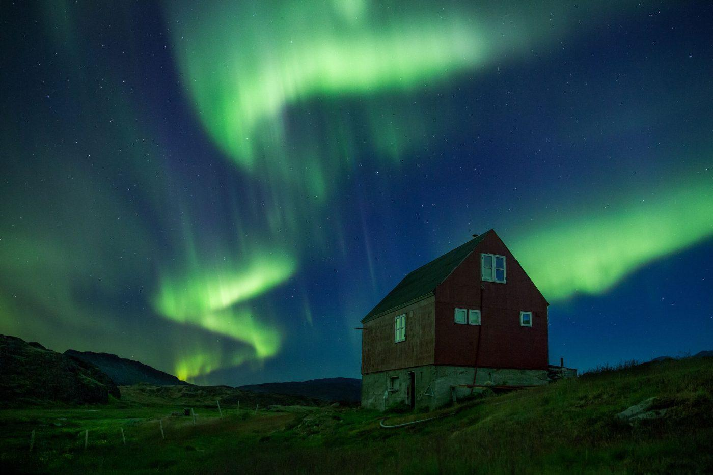 Fall Scenery Wallpaper The Scenery Of The Night Northern Lights Gr 246 Nland