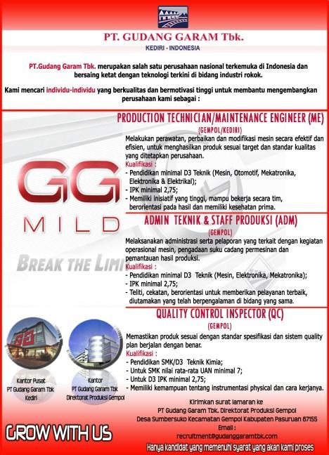 Pier Pasuruan Lowongan 2013 Icefilmsinfo Globolister Pt Gudang Garam Tbk Merupakan Salah Satu Perusahaan Nasional