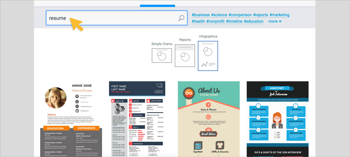 How to Create Your Own Visual Resume Visual Learning Center by Visme