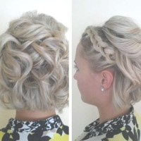 2018 Latest Wedding Updos For Bob Haircuts
