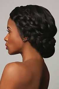 2018 Popular Updo Hairstyles For Black Hair Weddings