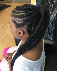 15 Best Ideas of Braided Hairstyles Into A Ponytail With Weave