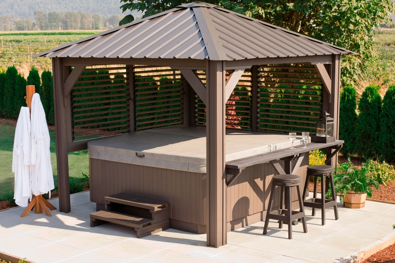 Spa Exterieur Kit 9x9 Sienna – Visscher – The Ultimate Outdoor Living Space