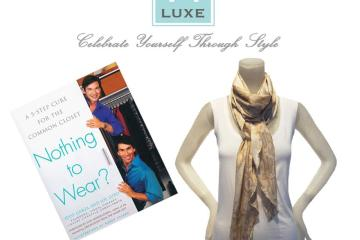 """VT Luxe Printed Snakeskin Fluted Scarf and """"Nothing to Wear"""""""