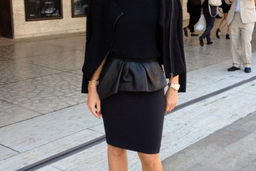 Our lead stylist Sarah coming out of Vera Wang show at Lincoln Center