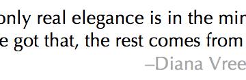 Diana Vreeland Quote