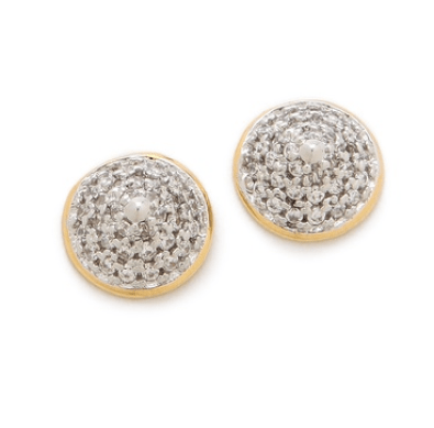 2. Noir Jewelry Classic Round Pave Stud Earrings