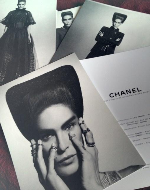 Chanel Haute Couture press materials