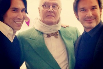 Jesse Garza, Manolo Blahnik and Joe Lupo