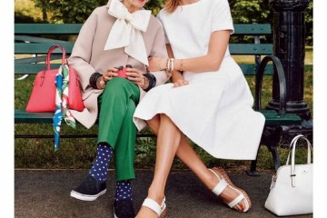 Iris Apfel and Karlie Kloss Kate Spade