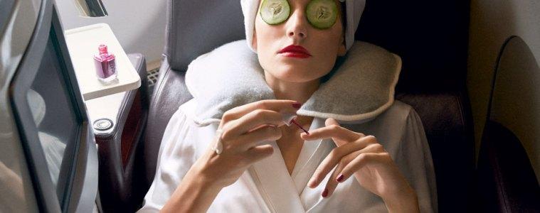 sleeping on the plane fashion blogger vogue