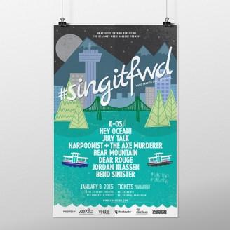 #SingItFwd graphic design