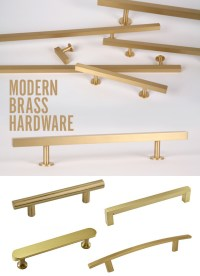 Modern Brass Hardware - visualheart creative studio