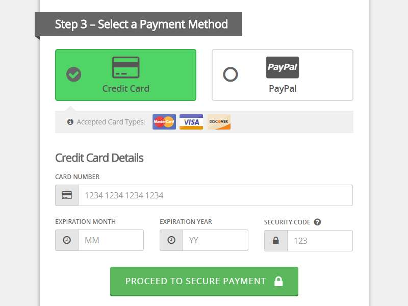 Credit Card Payment Forms The Ultimate Design Guide - Visual