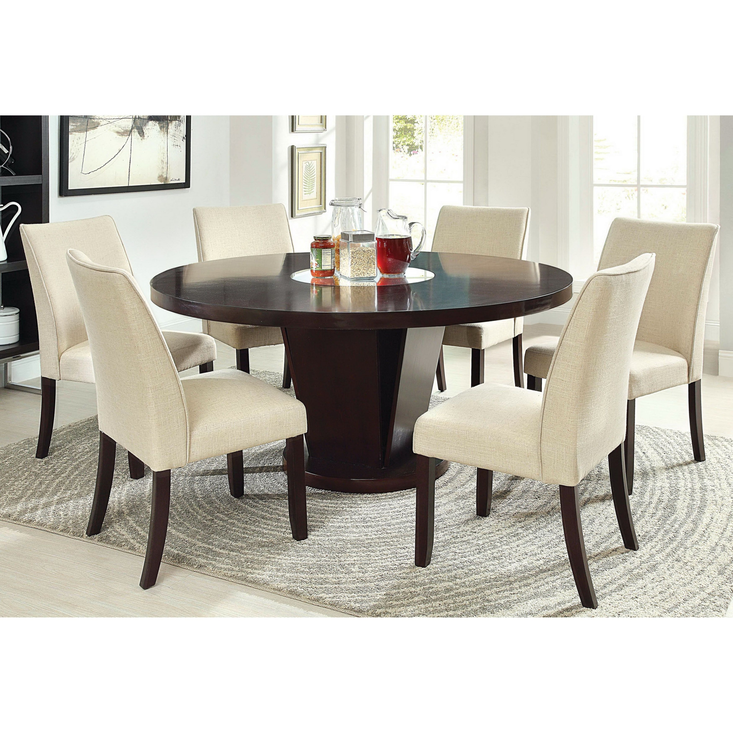 Breakfast Room Tables Round Dining Table For 6 Visual Hunt