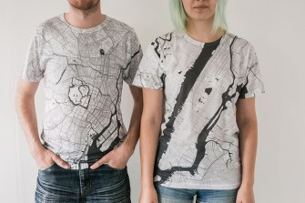 Love Maps? These Minimalist T-Shirts Are Your Chance To Wear One