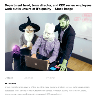 Finally! Stock Photos That Show Monsters at Work