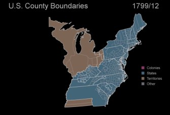 How Did Your State Evolve? U.S. Boundaries Mapped Every Month for 400 Years