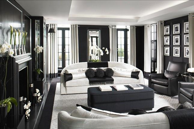 Living Room Color Schemes u2013 Black \ White - black and white living rooms