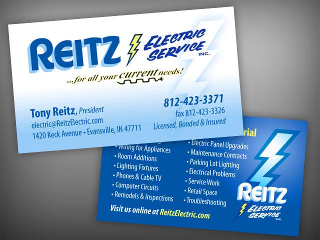 Reitz Electric business Cards - Visualrush
