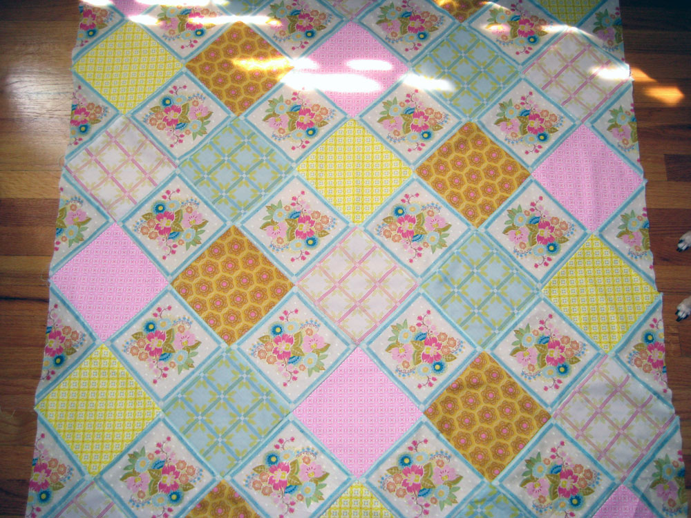 The top of the quilt is done!