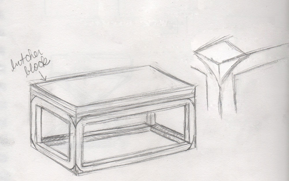 coffee table drawing. Perfect Table Building Our Own Coffee Table Visual Vocabularie Inside Drawing