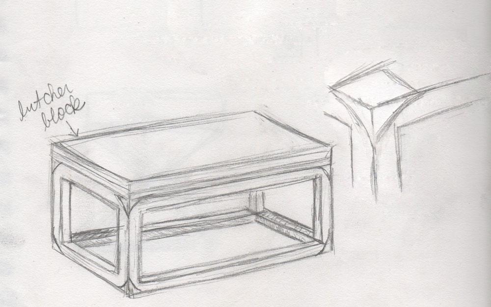 A Coffee Table Idea Sketch ...