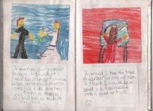 Pages 25 & 26 of the auto-biography I wrote in second grade.