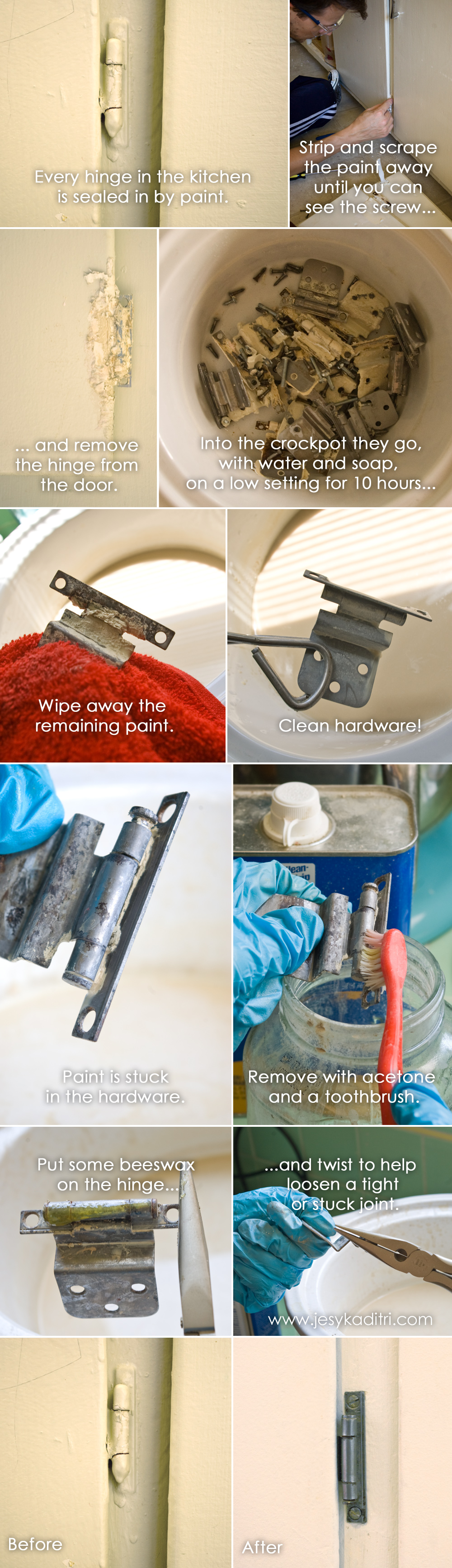 Cleaning Paint Off Metal Hinges