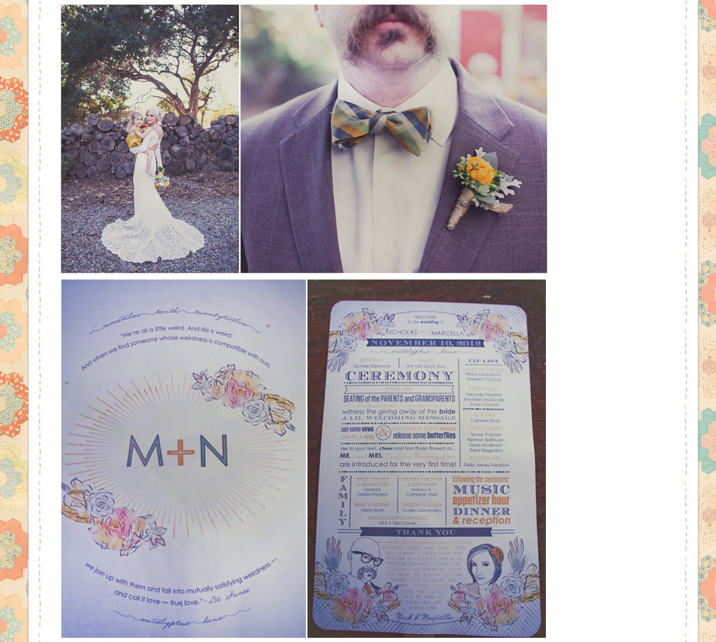 Marcella + Nick's programs at Wildflowers Photography