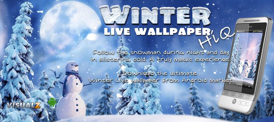 Snow Falling Gif Wallpaper Winter Live Wallpaper Hiq