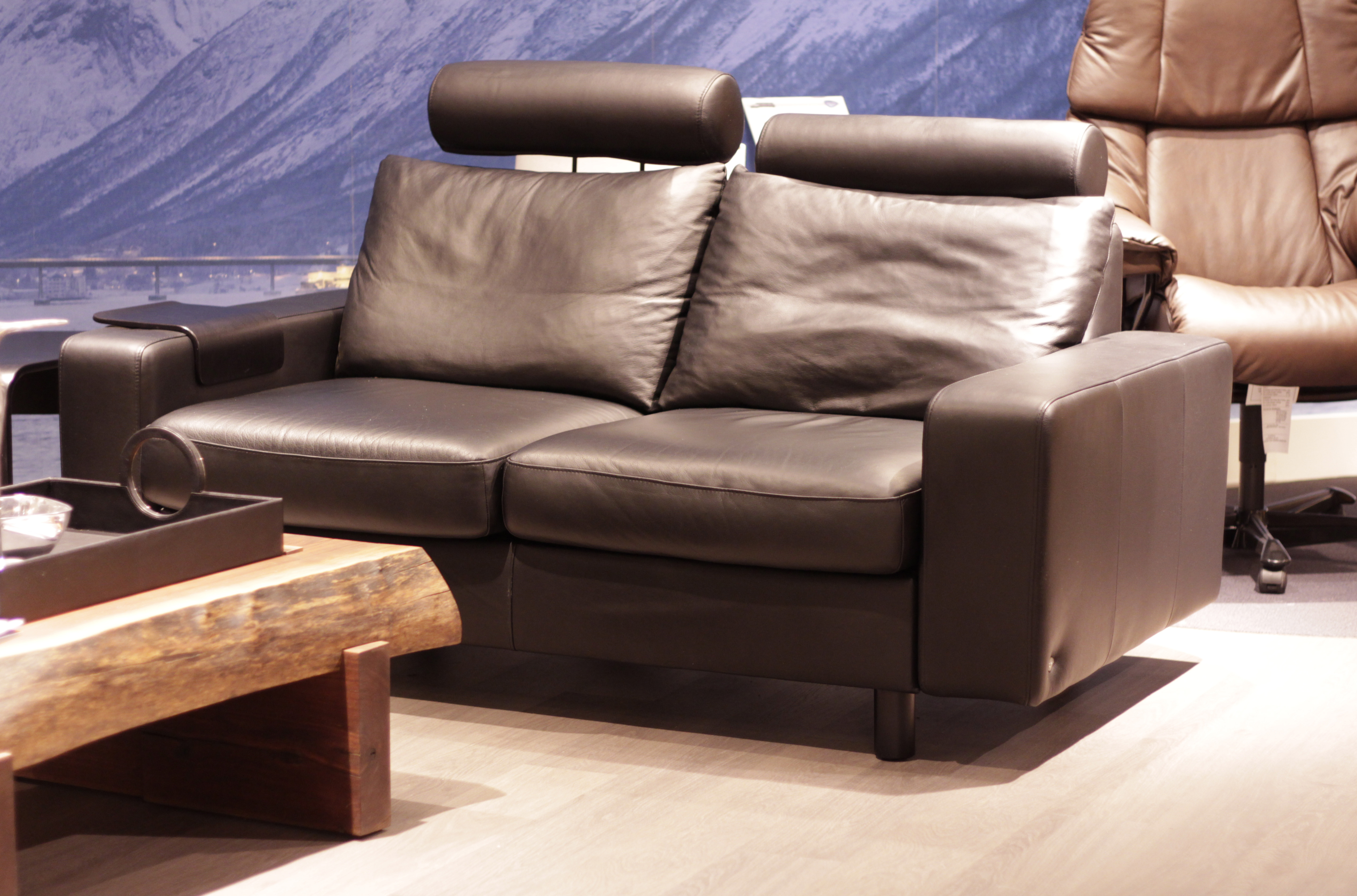 Stressless Sofa 600 Stressless E200 Loveseat Sofa In Paloma Rock Leather By Ekornes