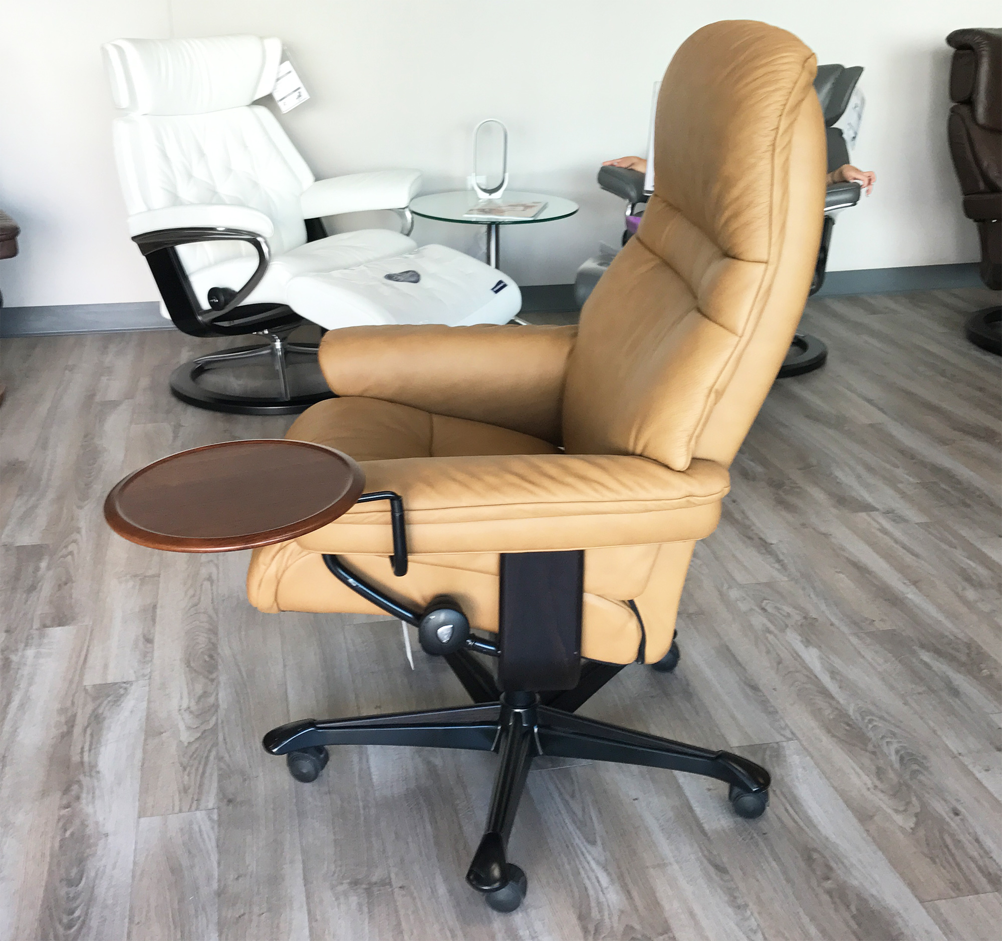 Stressless Video Stressless Sunrise Office Desk Chair Paloma Taupe Leather By Ekornes