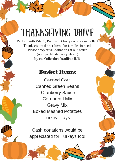 Thanksgiving Drive - Vitality Precision Chiropractic