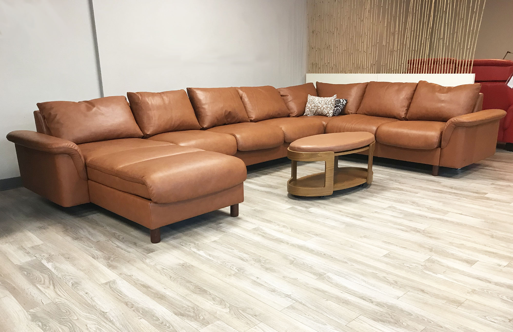 Stressless Wohnlandschaft Stressless E300 7 Seat Sectional Sofa With Longseat In Royalin