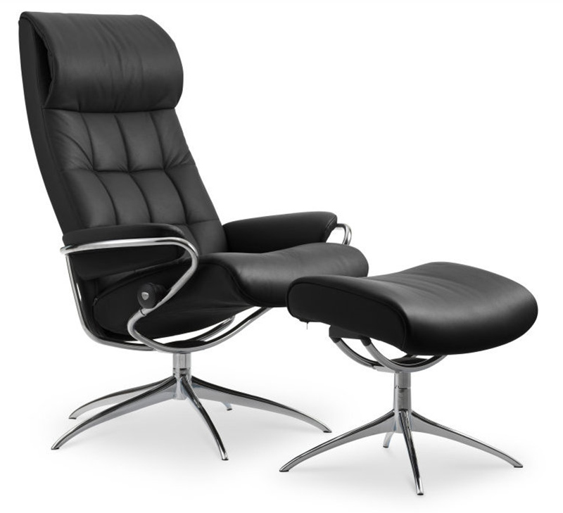 Stressless Sessel Ohne Hocker Stressless London High Back Leather Recliner And Ottoman