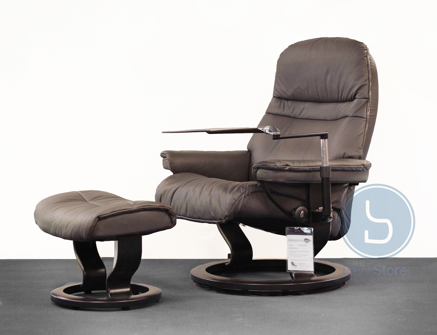 Stressless-world.com Stressless Sunrise Paloma Rock Leather Recliner Chair By Ekornes