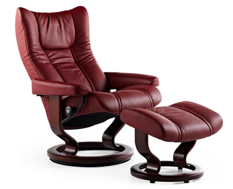 Stressless Sessel Wing Stressless Wing Recliner Chair And Ottoman By Ekornes