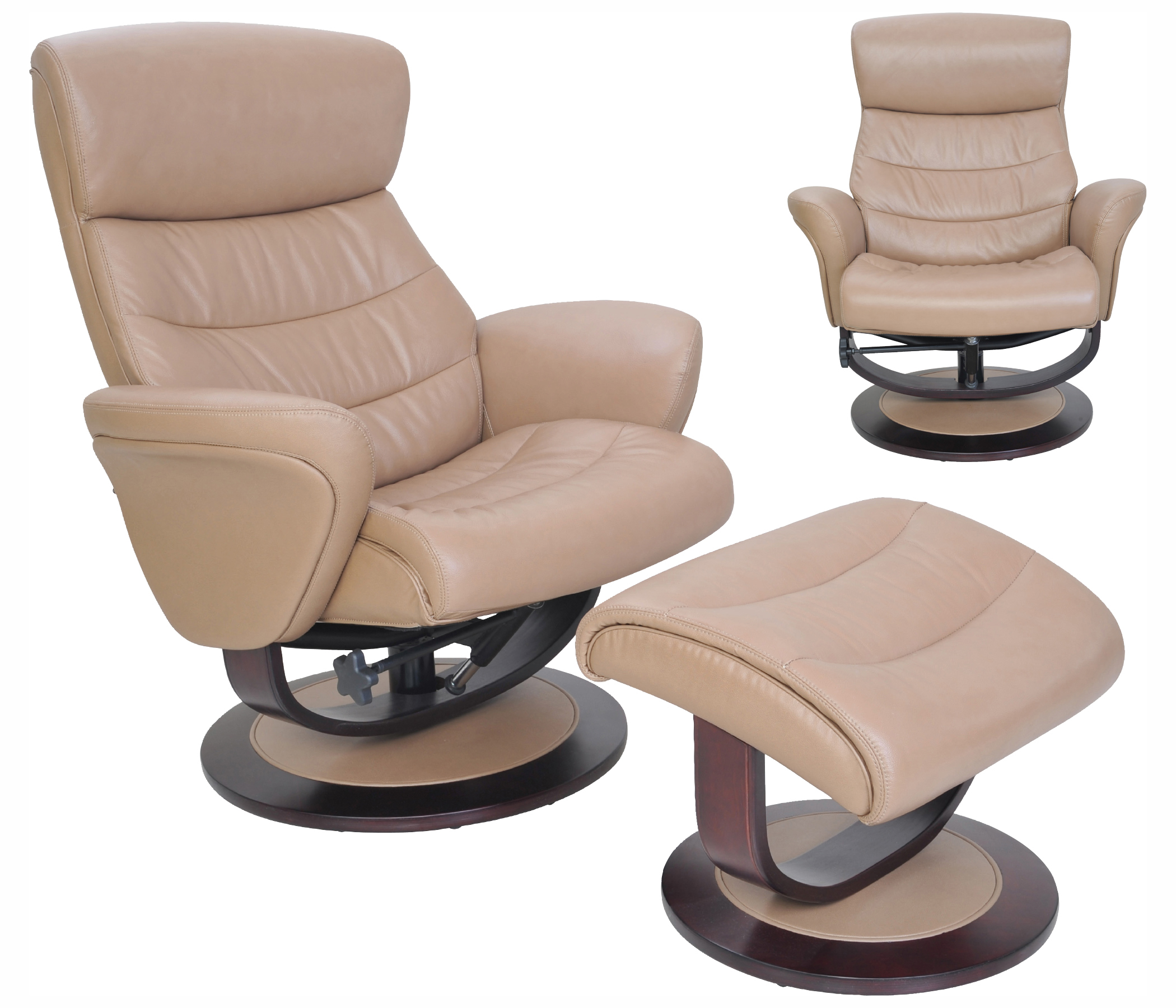 Leather Recliner Chair With Ottoman Details About Barcalounger Tetra Frampton Beech Leather Pedestal Recliner Chair And Ottoman