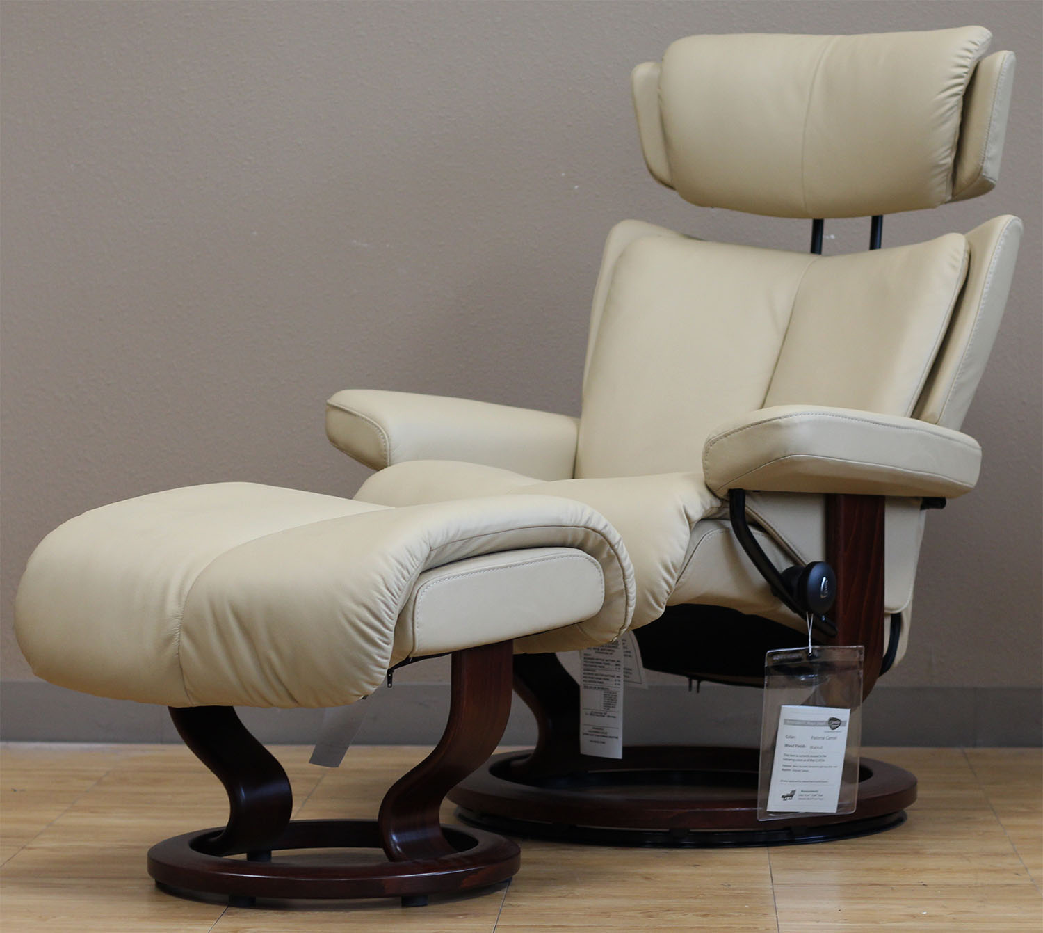 Stresless Stressless Magic Paloma Camel Color Leather By Ekornes
