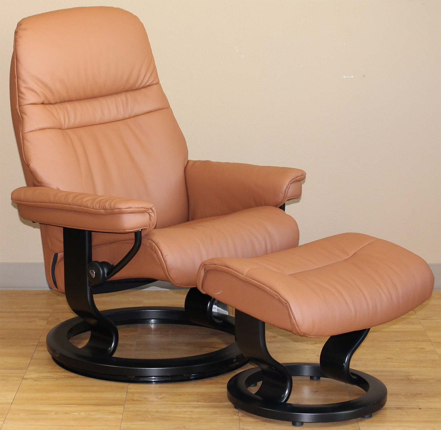 Stressless Sessel Ebay Stressless Sunrise Recliner Chair And Ottoman In Classic Palm Brown Leather By Ekornes
