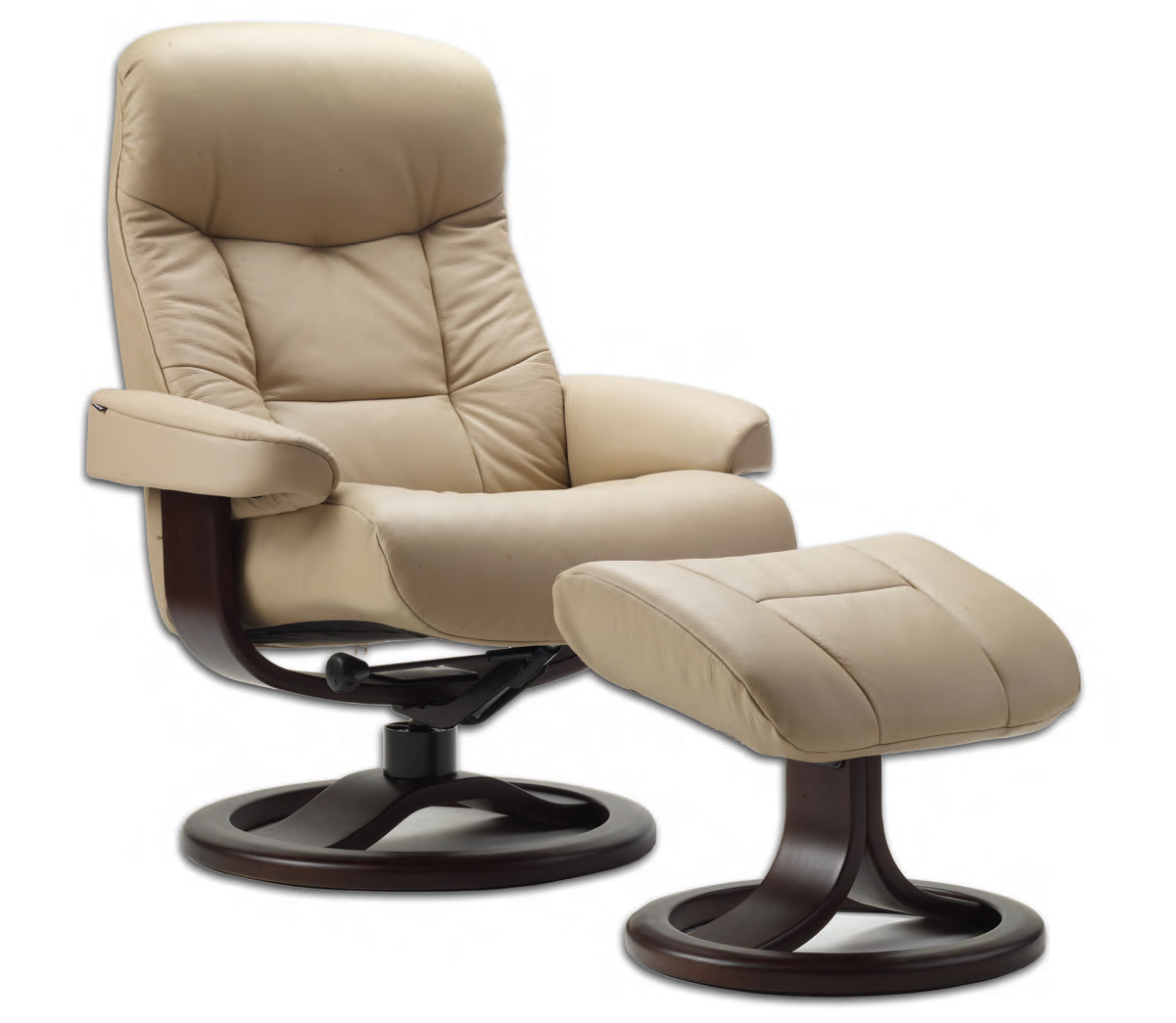 Scandinavian Chair Fjords 215 Muldal Ergonomic Leather Recliner Chair