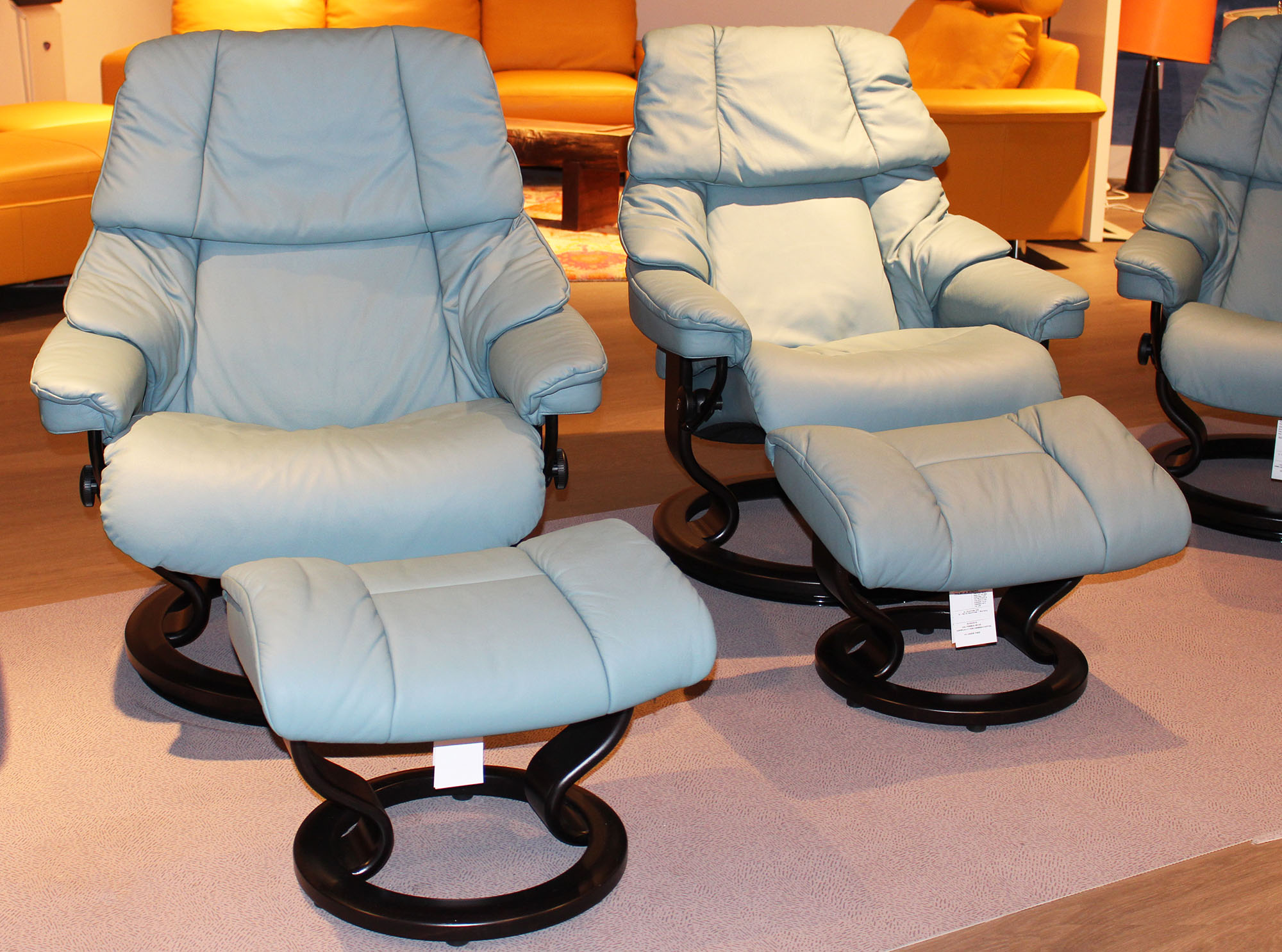 Stressless Paloma Stressless Paloma Aqua Green 09492 Leather By Ekornes Stressless