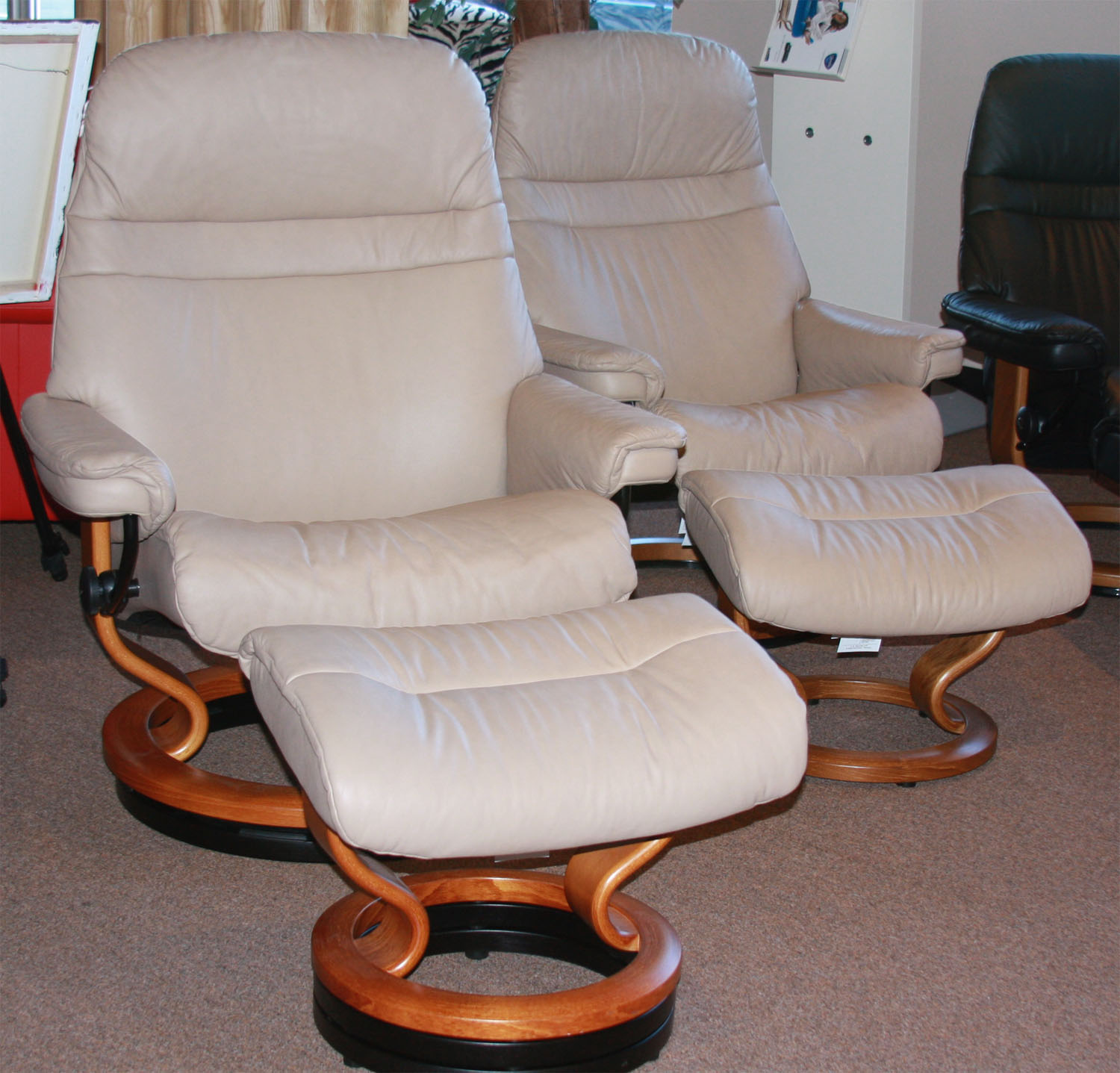 Stressless Ekornes Sessel Stressless Sunrise Recliner Chair And Ottoman
