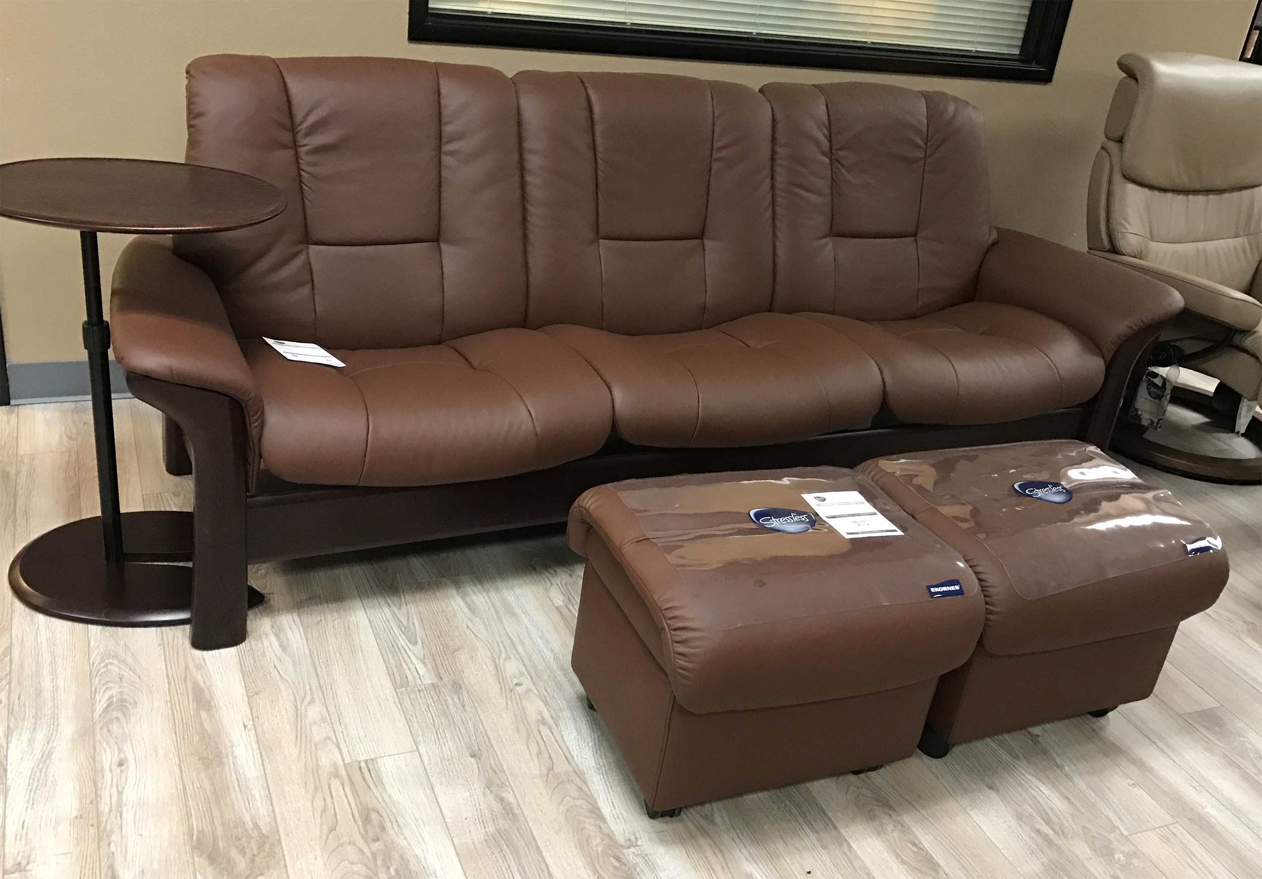 Ekornes Stressless Buckingham Sofa Stressless Buckingham 3 Seat Low Back Sofa Paloma Brown