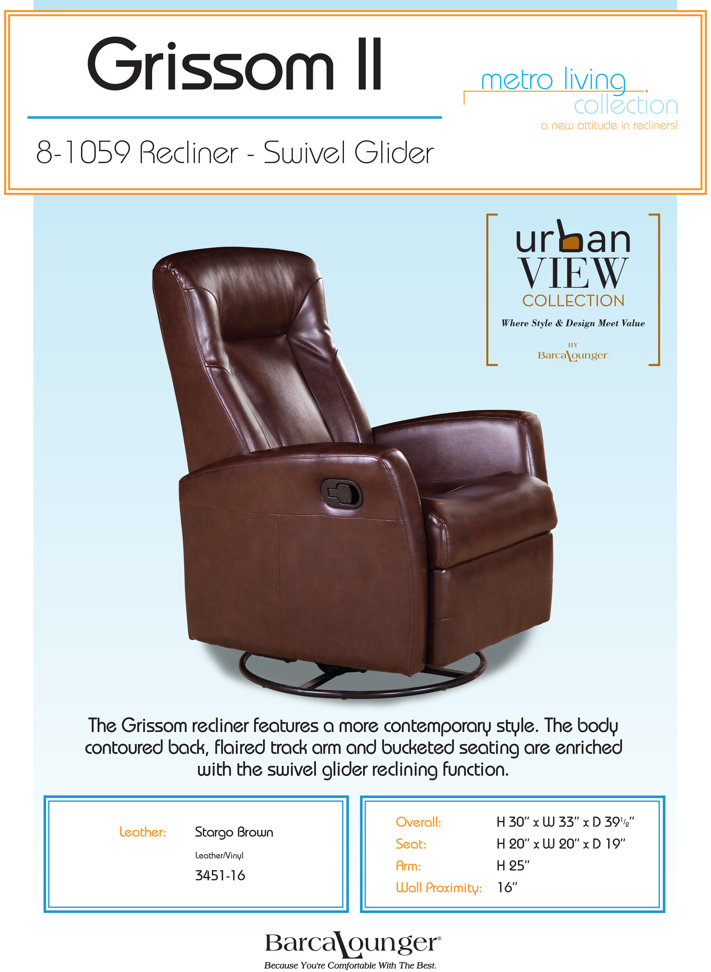 Chair Leather Reclining Swivel Barcalounger Grissom Ii Swivel Glider Recliner Chair Leather