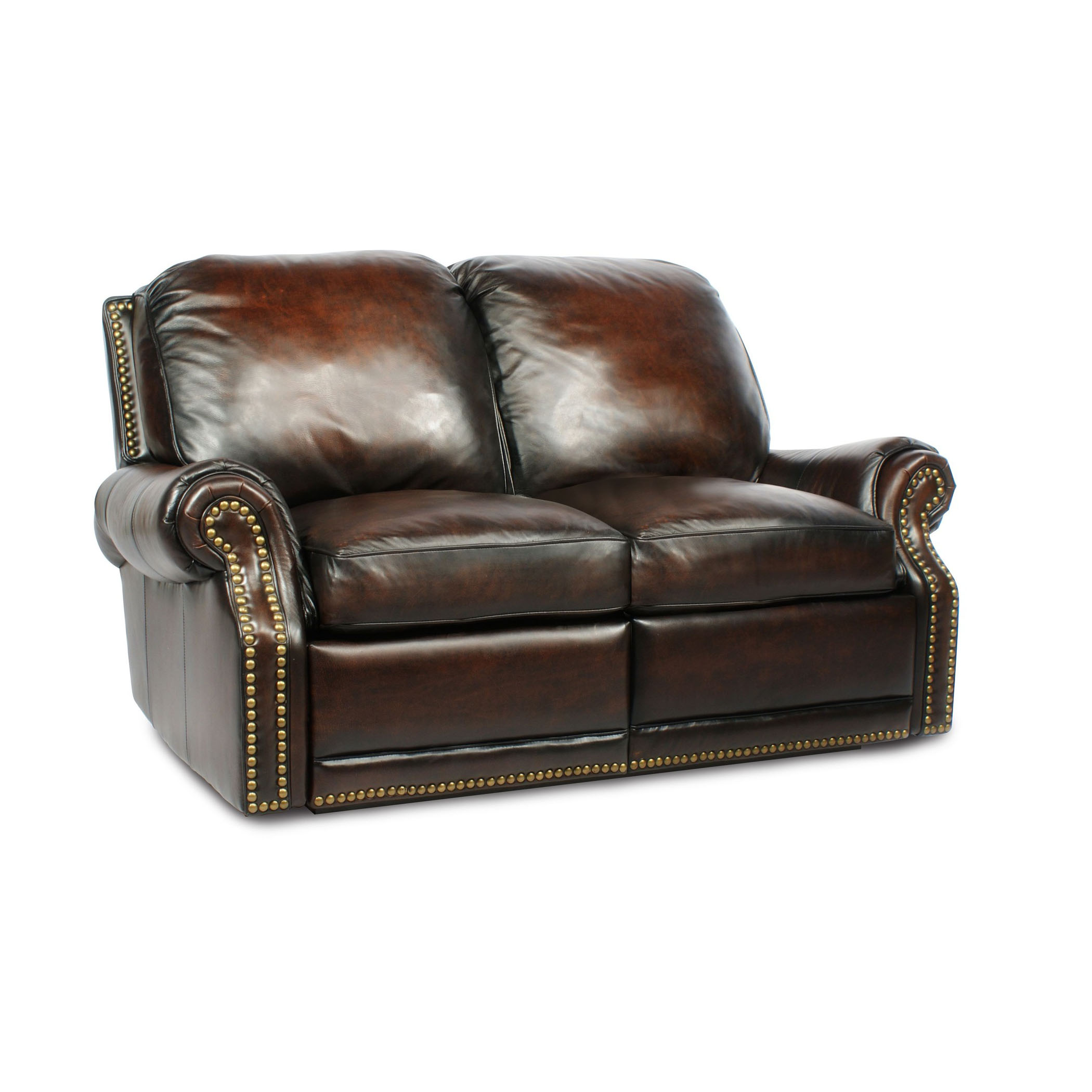 Lounge Couch Company Barcalounger Premier Ii Leather 2 Seat Loveseat Sofa