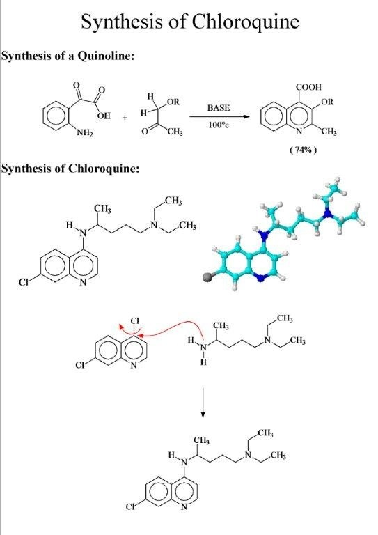 Synthesis of Chloroquine vitoribecco2013\u0027s Blog - synthesis reaction