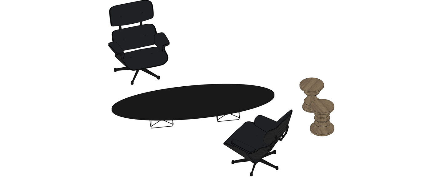 Vitra Eames Lounge Chair Dwg Vitra Eames Lounge Chair Stool Etr